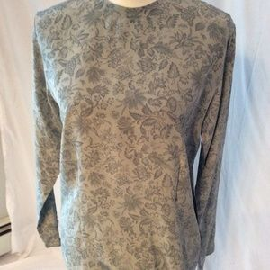 *Jones New York 100% Silk Botanical Leaves Blouse